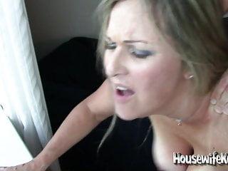 Stunning wife shared with 3 big cocks (1)