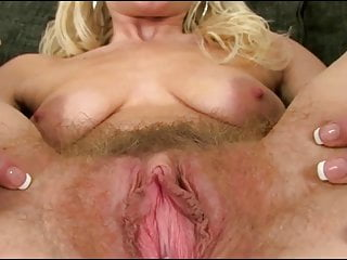 Hairy girl show pussy
