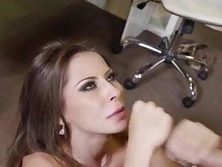 Beautiful Madison Ivy swallows big cum load