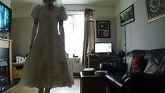 sissy in a wedding dress