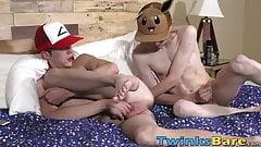 Pokemon dudes Kyle Rhodes and Cameron Hilander fucking raw