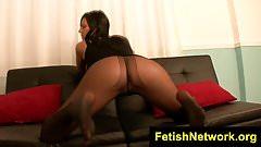 FetishNetwork Jade hot nylon pantyhose