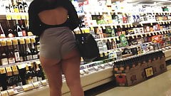 Candid pawg in store