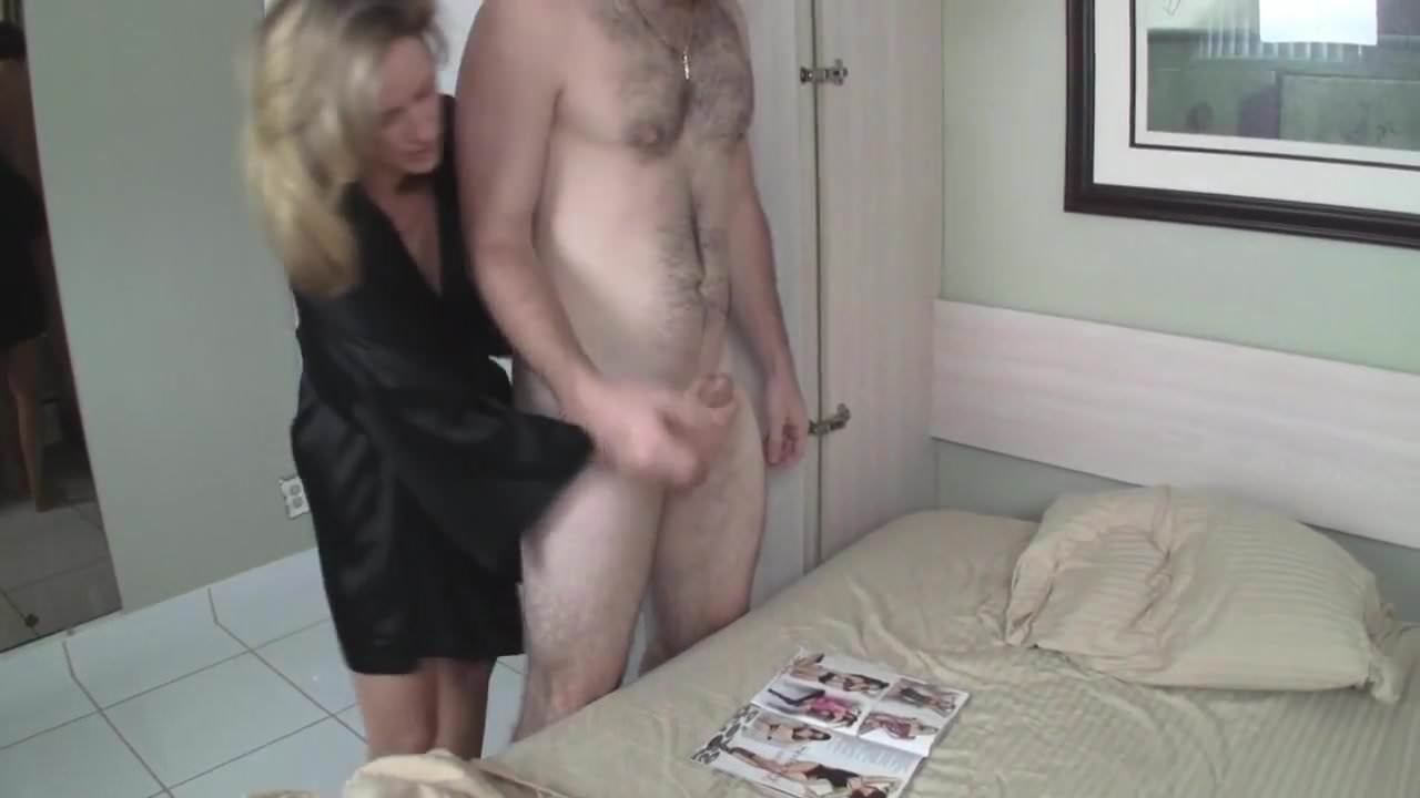 Son Helps Mom Masturbate