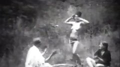Vintage Stripper Dancing in the Woods
