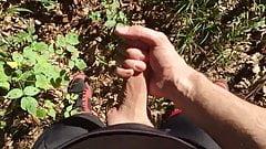 Outdoor Cumshot im Wald beim Mountain Biking