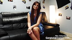Syren De Mar interviewed and creampied by 5 guys 's Thumb