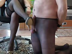 Femdom Cock whipping