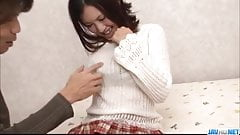 Momoka Amai loves sucking cock before fucking hard