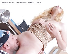 TeenMegaWorld - Creampie-Angels - Dude fixes blonde pussy