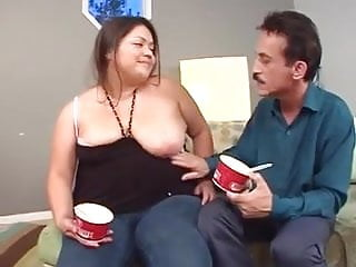 Preview 1 of Very pretty bbw eats and gets eaten before sex