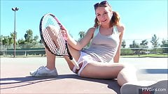 Aurora Fucks Her Tennis Racket On FTV Girls