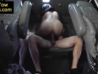 Real towtruck amateurs cockriding in trio