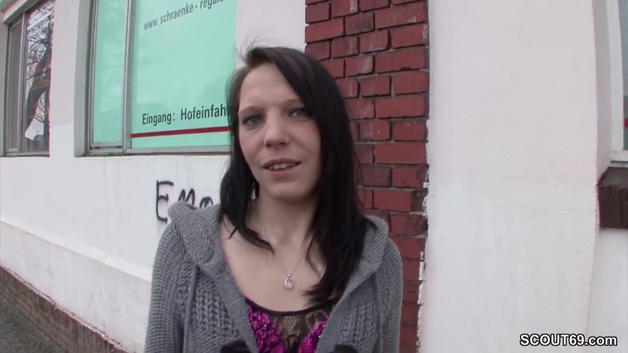 Stranger Seduce German Teen From Street to Fuck for Cash