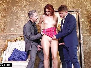 GlamkoreAni Blackfox gets a sensual DP in a lux hotel room