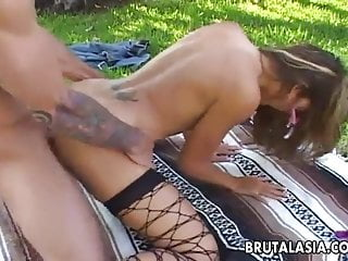 Preview 1 of Seductive big ass Asian bitch has a hot fuck doggy style