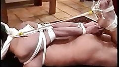 hogtied feet tied