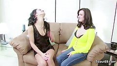 Milf mother Help Petite NOT Step-daughter to Lost her Virgin