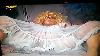 Nylon fetisch 10 - TV in nylons  and petticoat