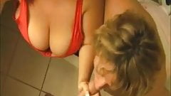 Big-Sized Girls Tag Team A Dick
