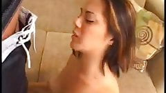 Tiny Brunette Melissa Likes A Big Cock In Her Tight Cunt