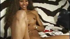 Sweet ebony slut vs tiny white dick