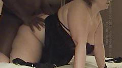 Big Tit Blonde Slut Sucking Black Cock - Awesome Cumshot!