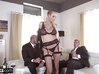 Glamkore Czech Blonde With Big Tits Has A Dp Threesome