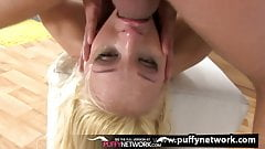 Throat Fuck - Blonde Lola Taylor sucks and takes a messy fac
