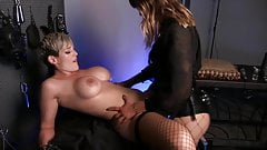 Slave vibed and fucked by mistress