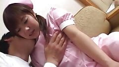 Japanese nurse work lamentations during foreplay Subtitled