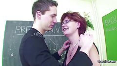 Female MILF Teacher Show Him how to get Pregnant
