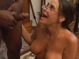 Naughty milf blowing huge black dick