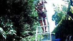 Grandpa on ladder 2