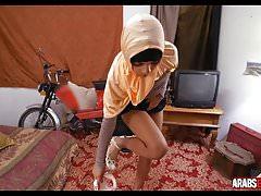 Amateur arab girl fucks for money