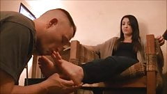 Girlfriend Foot licking,Kissing and Worship part1