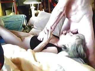Grandma sucking grandpa's balls and cum