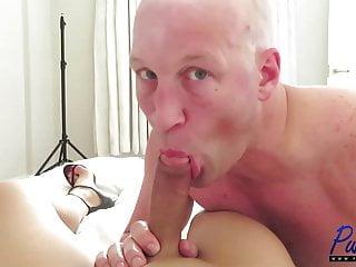 big dick asian TS gets blown