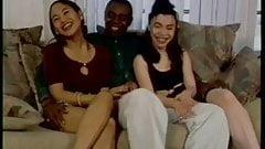 Black Cock Fucking two Asian girls, satomi & vivian