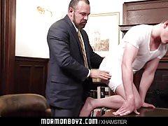 MormonBoyz - Mormon Teen Barebacked By Bear Daddy