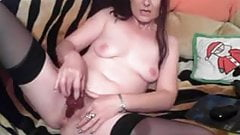 Cute Brunette show with Creamy webcam masturbation