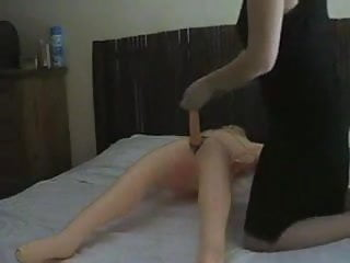 Perverted girl riding her inflatable male doll