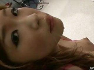 Teen cutie Izumi Koizumi shows off her cock sucking skills