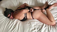 Catwoman cosplay with a hogtie!!!