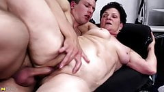 Grandma suck and fuck young big cock