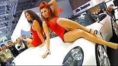 More car show upskirts by dancing girls