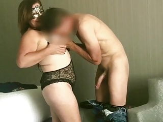 Wife takes cum from two strangers