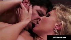 Classy Milf Julia Ann Bangs Denis Marti & Gets Cum in Mouth!