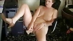 Cute old wife masturbating