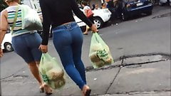 big ass teen in street